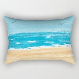 Beach Scene Rectangular Pillow