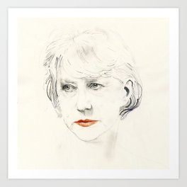 Helen Mirren Art Print