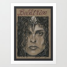 Belatrix Lestrange (DRAWLLOWEEN 9/31) Art Print