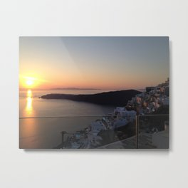 Santorini, Greece Metal Print
