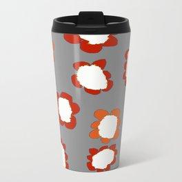 Daisies on Putty pattern Travel Mug