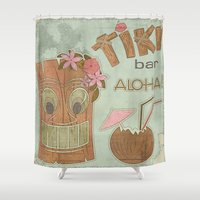aloha Shower Curtains featuring Aloha by Robin Curtiss