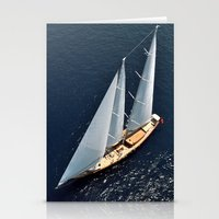 sailboat Stationery Cards featuring sailboat by laika in cosmos