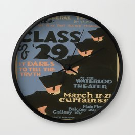 Vintage poster - Class of '29 Wall Clock
