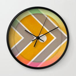 Fish - color graphic Wall Clock