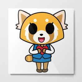 Aggretsuko Loves You! Metal Print