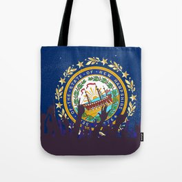 New Hampshire State Flag with Audience Tote Bag