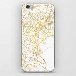 TOKYO JAPAN CITY STREET MAP ART iPhone Skin