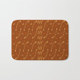 Antiqued Musical Notes Golden Honey Locust Design Bath Mat