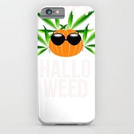 Weed Happy Hallo Weed Halloween Pot Smoking iPhone Case