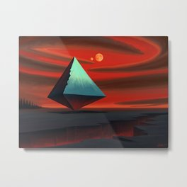 Moon Pyramid Metal Print