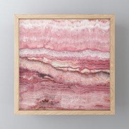 Mystic Stone Blush Framed Mini Art Print