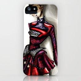 Mary Ktrantzou Typo dress iPhone Case
