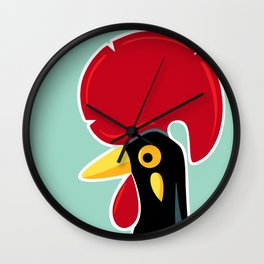 Rooster of Barcelos, Portugal Wall Clock