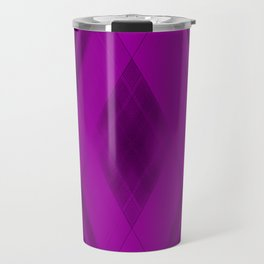 Ice triangular strokes of intersecting crisp lines with violet triangles and stripes. Travel Mug