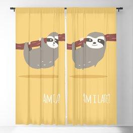 Sloth card - Am I late? Blackout Curtain