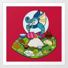 Ganesha's Meal Art Print