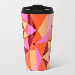 Geometric Flower Digital Illustration Travel Mug