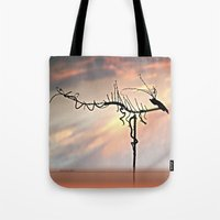dragon Tote Bags featuring Dragon by Menchulica
