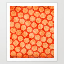 Red dot Pattern with rabbit Art Print