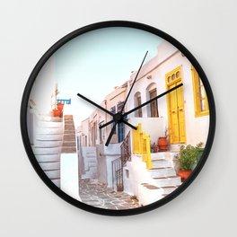 Travel Greece, Sifnos island Wall Clock