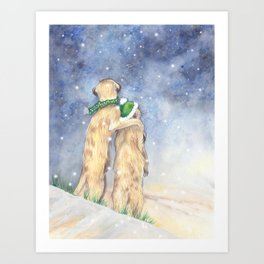 It's Meerly Xmas Art Print