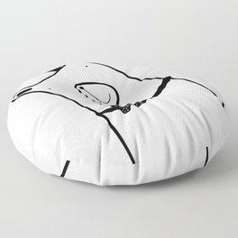Scandinavian style woodland bear with crown Floor Pillow