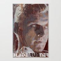 blade runner Canvas Prints featuring Blade Runner by Duke Dastardly