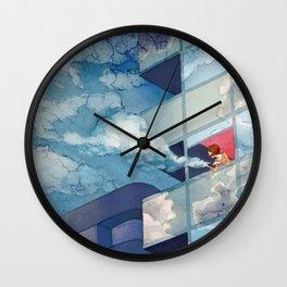 Cloudy floor Wall Clock