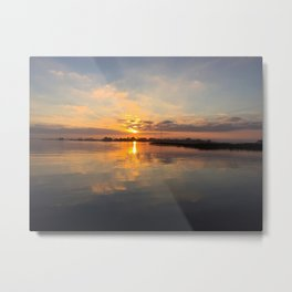 Beach House Bay View Metal Print