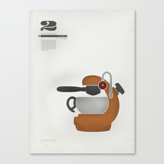 Coffee Contraption #2: Atomic Canvas Print