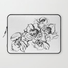 Flowers Line Drawing Laptop Sleeve