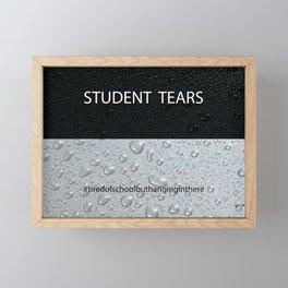 Student Tears Framed Mini Art Print