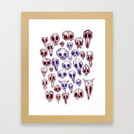 bestiary in color Framed Art Print