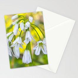 White woodland flora. Stationery Cards