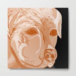 Rottweiler Sepia Tones Metal Print