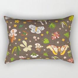 woodland moths pattern Rectangular Pillow