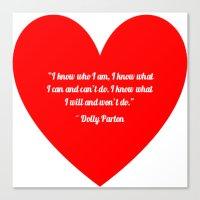 dolly parton Canvas Prints featuring Dolly Parton by Geraldine Mattis