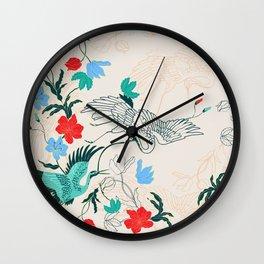 Japanese Bird Wall Clock