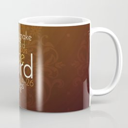 Christian Priestly Blessing Word Art on Damask Coffee Mug