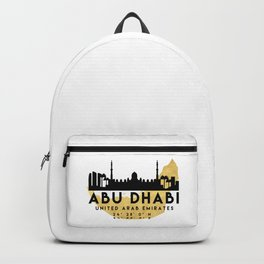 ABU DHABI UNITED ARAB EMIRATES SILHOUETTE SKYLINE MAP ART Backpack