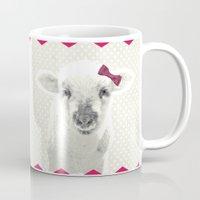 lamb Mugs featuring LAMB by SUNLIGHT STUDIOS  Monika Strigel