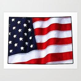 Patriotic Colorado Art Print