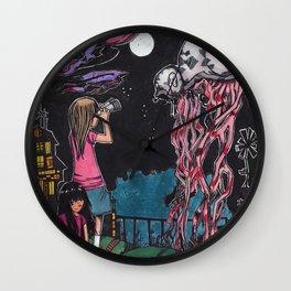 Psychedelic sea creatures Wall Clock