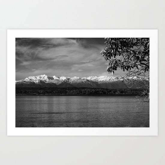 Olympic Mountains fine art print Art Print