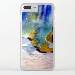 Oase Abstrakt Watercolor Clear iPhone Case