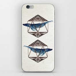 whale in the icosahedron iPhone Skin