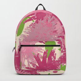 Abstract Pink Puffs Backpack