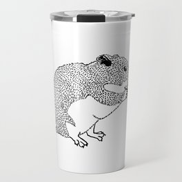 Hungry Hamster Eating A Seed Travel Mug