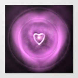 Love Is A Particle Canvas Print
